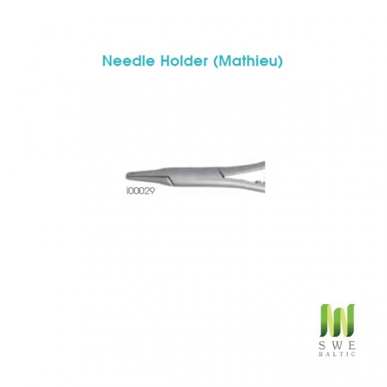 Needle Holder (Mathieu) Serrated tips 2mm