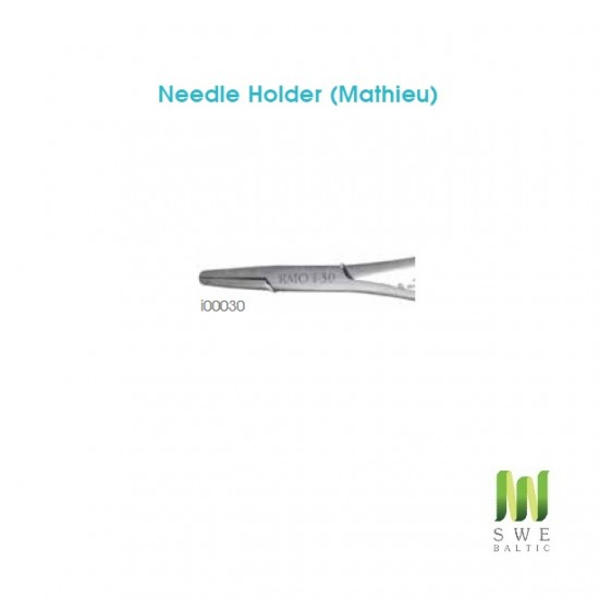 Needle Holder (Mathieu) Serrated tips 3mm