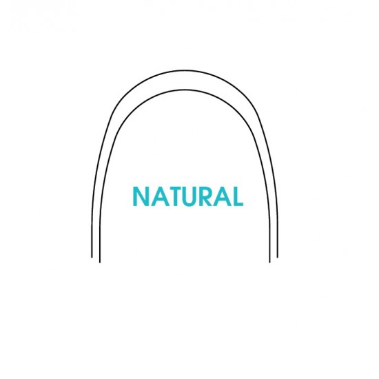 NiTi Natural Thermal activated Arches 10x